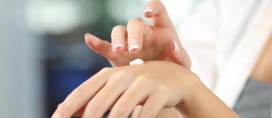 Hydratation des mains